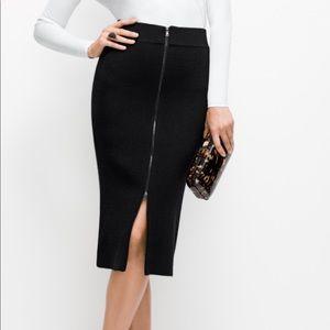 Ann Taylor Black Zipper Pencil Skirt - NWT - 12